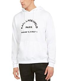 Karl Lagerfeld Men's Latitude Print Hoodie