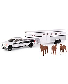 Ford 1/32 Scale F-350 Pickup with Horse Trailer and Horses