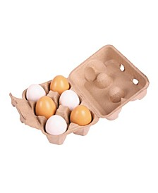 Wooden Six Eggs in A Carton