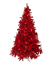 Pre-Lit Red Christmas Tree with LED Lights Collection