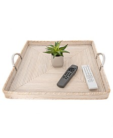 Rattan Saboga Collection Square Tray