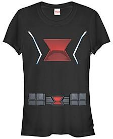 Marvel Women's Black Widow Halloween Costume Short Sleeve Tee Shirt