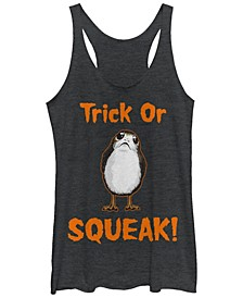 Star Wars Women's Trick or Squeak Halloween Tri-Blend Tank Top