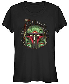 Star Wars Women's Boba Fett Sugar Skull Short Sleeve Tee Shirt