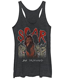 Disney Women's The Lion King Scar Hyenas Tri-Blend Tank Top
