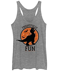 Disney Pixar Women's Toy Story Rex Frightfully Fun Tri-Blend Tank Top