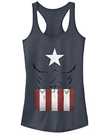 Marvel Women's Captain America Simple Suit Racerback Tank Top