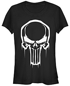 Marvel Women's Painted Negative Space Punisher Logo Short Sleeve Tee Shirt
