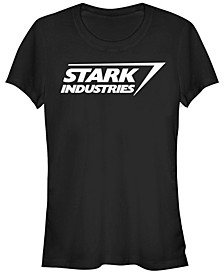 Marvel Women's Iron Man Stark Industries Logo Short Sleeve Tee Shirt