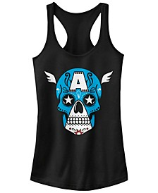 Marvel Women's Avengers Captain America Sugar Skull Racerback Tank Top