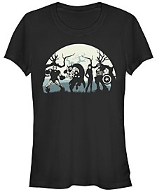 Marvel Women's Avengers Spooky Team Short Sleeve Tee Shirt