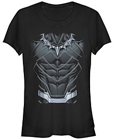 Marvel Women's Black Panther Classic Suit Costume Short Sleeve Tee Shirt