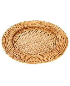 Rattan Open Weave Charger