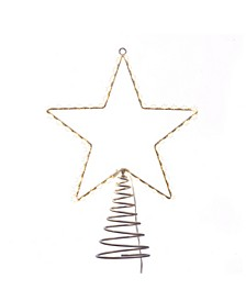 13-Inch Metal Lighted LED Star Treetop