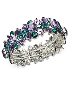 Silver-Tone Stone Star Stretch Bracelet, Created For Macy's