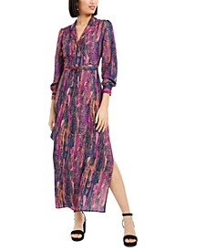 Snake Print Wrap Maxi Dress, Created For Macy's
