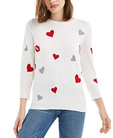 Printed 3/4-Sleeve Sweater, Created For Macy's