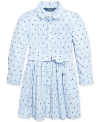 Ralph Lauren Girls Polka Dot-Print Dress