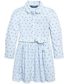 Toddler Girls Anchor Cotton Shirtdress