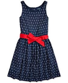 Big Girls Anchor-Print Twill Dress