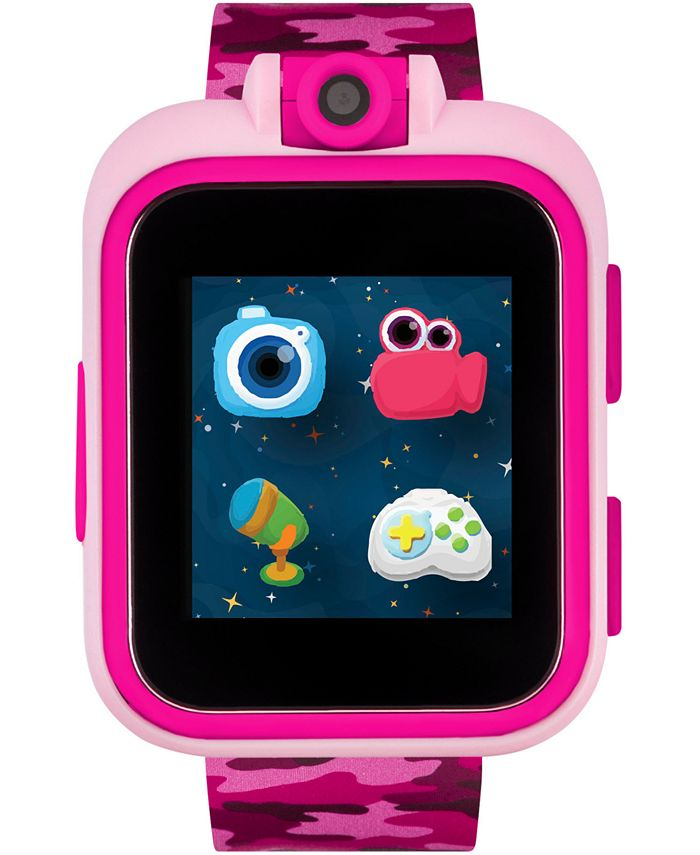 iTouch - Unisex PlayZoom Pink Camouflage Strap Touchscreen Smart Watch 42x52mm