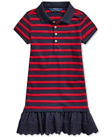 Toddler Girls Eyelet Stretch Mesh Polo Dress