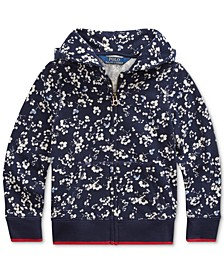 Toddler Girls Floral Cotton Terry Hoodie