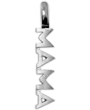 Mini Mama Charm Pendant in Sterling Silver