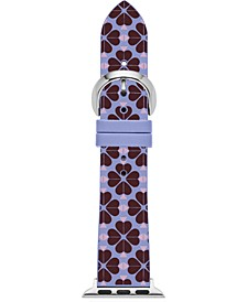 Women'e Blue Spade Flower Silicone Apple Watch Strap 38mm/40mm