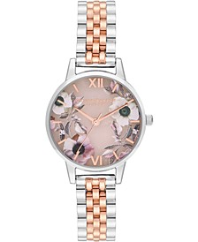 Women's Semi-Precious Two-Tone Stainless Steel Bracelet Watch 30mm