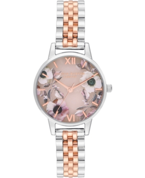 Olivia Burton Watches WOMEN'S SEMI-PRECIOUS TWO-TONE STAINLESS STEEL BRACELET WATCH 30MM