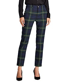 Plaid Straight Pants