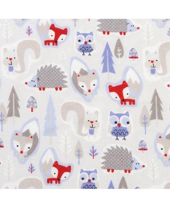 Trend Lab Winter Forest Animals Flannel Crib Sheet