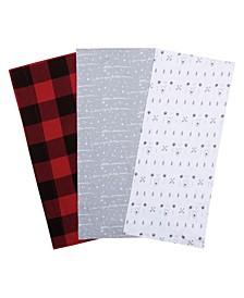 Bear and Buffalo Check Jersey Burp Cloth 3-Pack
