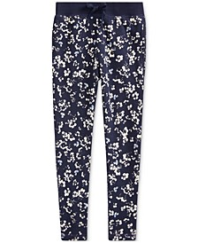 Little Girls Floral Cotton French Terry Pants