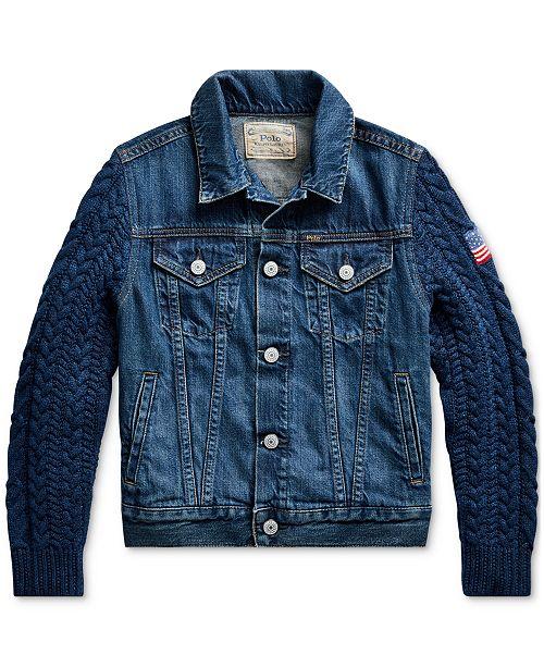 Polo Ralph Lauren Big Girls Hybrid Denim Trucker Jacket
