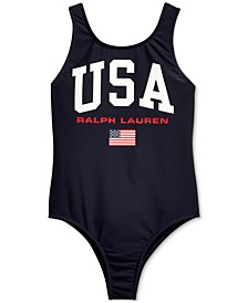Little Girls USA One-Piece Swimsuit