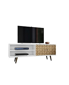 """Liberty 62.99"""" Mid Century - Modern TV Stand with 3 Shelves and 2 Doors"""
