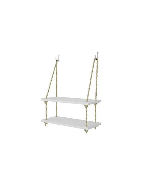 "Manhattan Comfort Uptown 2.0 - 17.52"" Rope Swing with 2 Shelves"