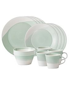 Dinnerware, 1815 Green 16-Piece Set, Service for 4