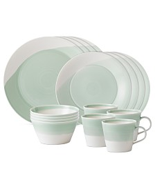 Royal Doulton Dinnerware, 1815 Green 16-Piece Set, Service for 4