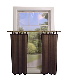 Home Fashions Bamboo Ring Top Sheer Tier