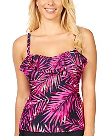 Beach Bound Tahiti Printed Ruffled Tankini, Created For Macy's