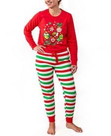 Matching Women's Two Piece Plus Size Pajamas, Online Only