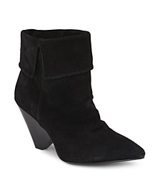 Cone Heeled Ankle Booties