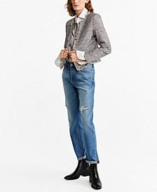 Metallic Thread Tweed Jacket