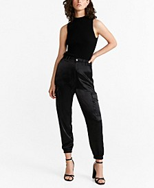 Satin Cargo Trousers