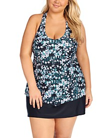 Trendy Plus Size Tankini Top & Bottoms, Created for Macy's