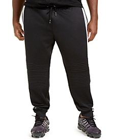 INC Men's Big & Tall Moto Side Stripe Joggers, Created for Macy's