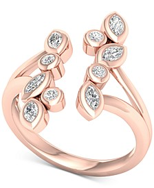 Diamond Bezel Cuff Statement Ring (1/2 ct. t.w.) in 14k Rose Gold